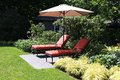 Garden lounge chairs Royalty Free Stock Photo