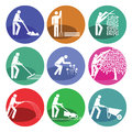 Garden maintenance web icons Royalty Free Stock Photo
