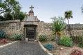 Garden, Mission Santa Barbara Royalty Free Stock Photo