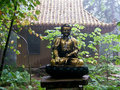 Garden Path with Asian Theme and Budda Stock Photography