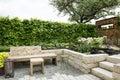 Garden patio Royalty Free Stock Photo