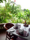 Garden Patio outdoor Dining Royalty Free Stock Photo