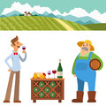 Garden people character agriculture farm harvest people organic outdoor work vector illustration