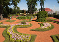Garden at Peterhof Saint Petersburg Stock Images