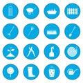 16 garden plain icon blue