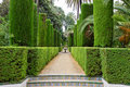 Garden of the Poets, Alcazar Palace Royalty Free Stock Photos