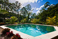 Garden Pool Royalty Free Stock Photography