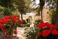 Garden of rey moorish in ronda spain Royalty Free Stock Photo