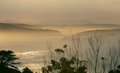 Garden route south africa layered ladscape at dusk along Royalty Free Stock Photos