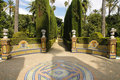 Garden of the Royal Alcazar in Seville, Spain Stock Images