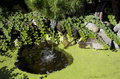Garden running water and pond in Royalty Free Stock Photography