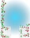 Garden scrapbook frame Royalty Free Stock Photo
