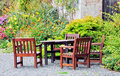 Garden seating Stock Photography