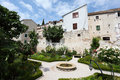 Garden in Sibenik, Croatia Stock Image