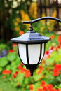Garden solar lamp close up Stock Photo