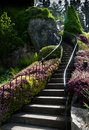 Garden staircase Stock Photography