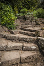 Garden stairway steep sandstone path Stock Image