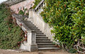 Garden Steps leading to an English Stately Home Stock Images