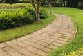 Garden stone path Royalty Free Stock Photo