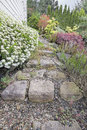 Garden Stone Steps Royalty Free Stock Photo