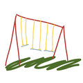 Garden swing cartoon illustration Royalty Free Stock Photo