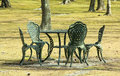 Garden table and chairs on outdoor Royalty Free Stock Photography