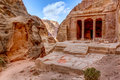 Garden tomb ancient known as carved in the rock in petra jordan Stock Photo