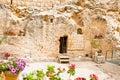 Garden Tomb in Jerusalem, Israel Royalty Free Stock Photo