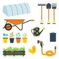 Garden tool set Royalty Free Stock Photo