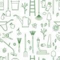 Garden tools pattern