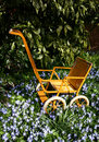 Garden toy pram Stock Images