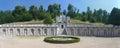 Garden of the villa della regina queen s villa in turin italy view gardens and marble terrace Royalty Free Stock Photography
