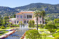 Garden in villa ephrussi de rothschild saint jean cap ferrat french riviera Royalty Free Stock Photo