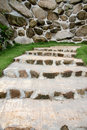The garden walkways with stone Stock Photos
