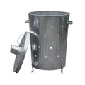 Garden waste incinerator bin barrel isolated against a white background Royalty Free Stock Photography