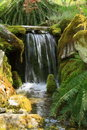 Garden waterfall Royalty Free Stock Image