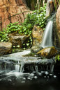 Garden waterfalls Stock Photography