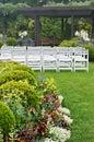 Garden Wedding Royalty Free Stock Photo