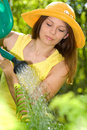 Gardener woman Royalty Free Stock Images