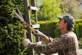 Gardener during work
