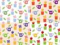 Gardening background seamless pattern