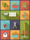 Gardening flat design vector illustration.