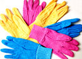 Gardening gloves a selection of colorful lady s Royalty Free Stock Photography