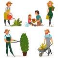 Gardening Hobby Icon Set