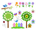 Gardening icon set. Spring Flower Garden. Royalty Free Stock Photo