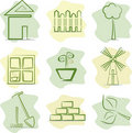 Gardening (icons) Stock Images