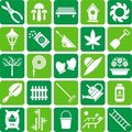 Gardening icons Stock Images