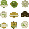 Gardening icons design stickers labels tags isolated over white Stock Images