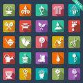 Gardening icons set of Stock Images