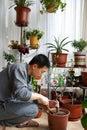 Gardening man